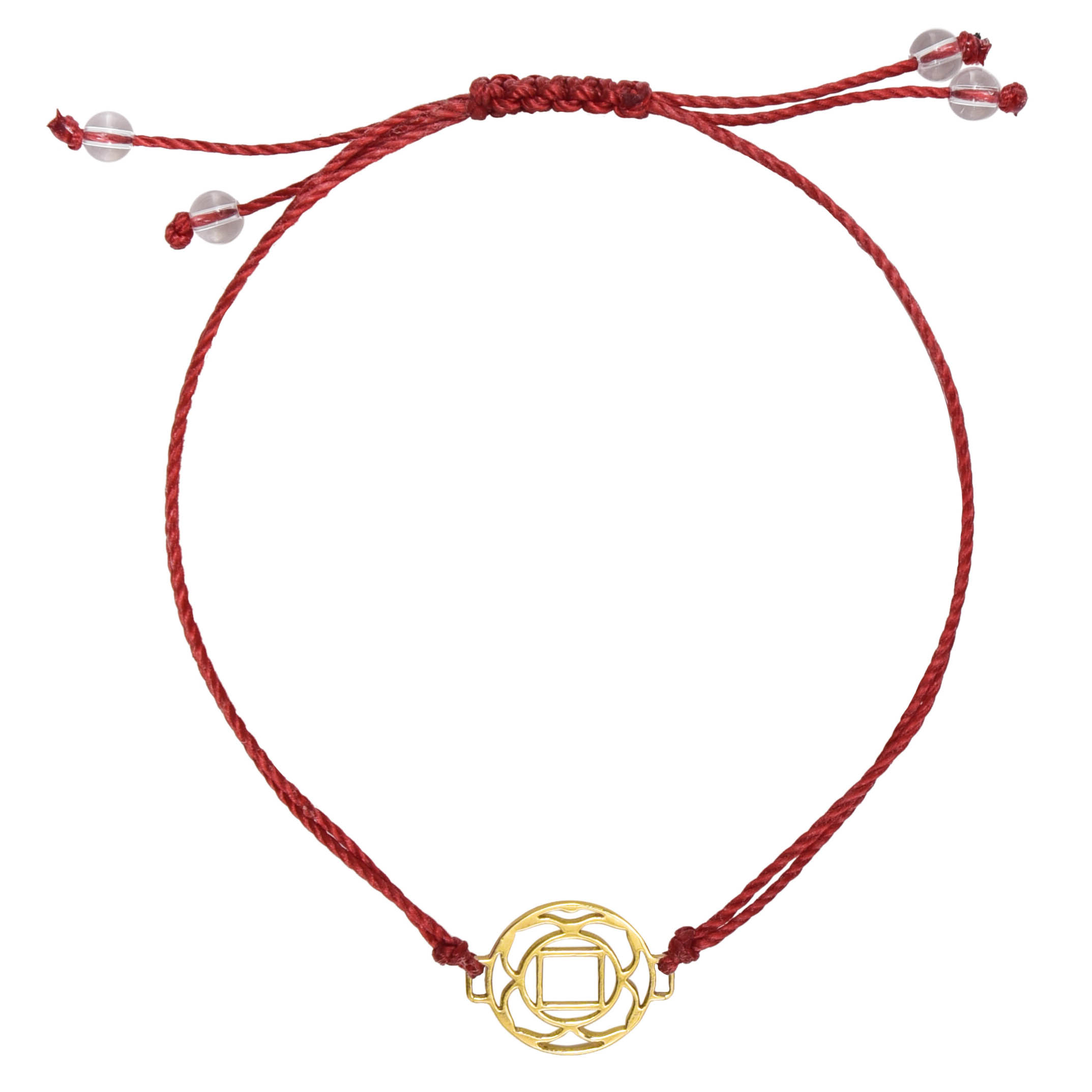 ladymatic omega gold bracelet red image